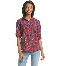 Hippie Laundry Distressed Plaid Shirt