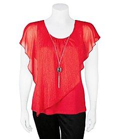 A. Byer Plus Size Necklace Top