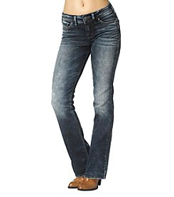 Silver Jeans Co. Suki Marbled Slim Bootcut Jeans