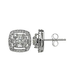 10K White Gold 0.75ct tw Diamond Earring