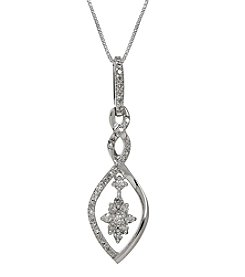 Sterling Silver Pendant with 0.25ct Diamond Accent