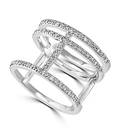 Effy® Geo Collection 14K White Gold 0.47ct tw Diamond Ring