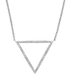 Effy® Geo Collection 14K White Gold 0.24ct tw Diamond Necklace