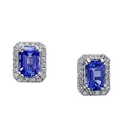Effy® Tanzanite Royale Collection 14K White Gold 0.25ct tw Diamond and Tanzanite Earrings
