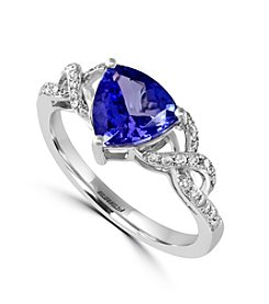 Effy® Tanzanite Royale Collection 14K White Gold 0.19 ct. t.w. Diamond and Tanzanite Ring