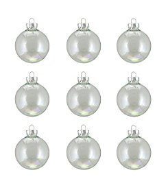 9-ct. Clear Iridescent Glass Ball Christmas Ornaments