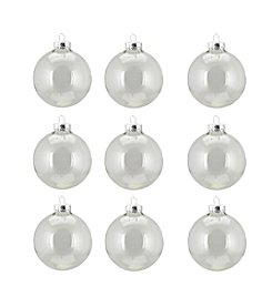 9-ct. Clear Transparent Glass Ball Christmas Ornaments