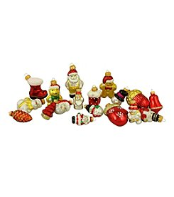 18-ct. Snowman, Santa, Nutcracker and Gingerbread Glass Figure Christmas Ornaments