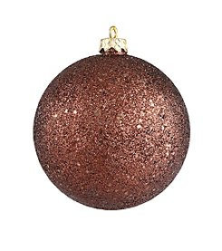 Shatterproof Mocha Brown Holographic Glitter Christmas Ball Ornament