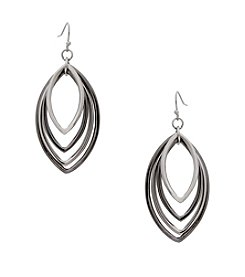 Erica Lyons® Two Tone Layered Open Eye Ring Pierced Earrings