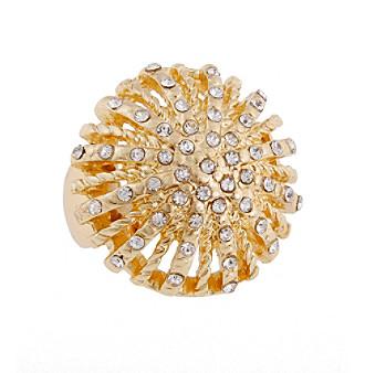 Erica Lyons® Goldtone Dome Fashion Stretch Ring