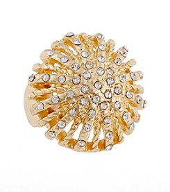 Erica Lyons® Goldtone Dome Fashion Stretch Ring
