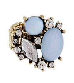Erica Lyons® Goldtone Cluster of Stones Fashion Stretch Ring
