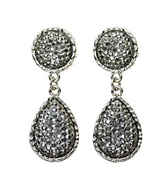 Studio Works® Hematite Post Resin Caviar Teardrop Earrings