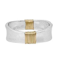 Robert Lee Morris Soho™ Two-Tone Wire Wrapped Sculptural Hinged Bangle Bracelet