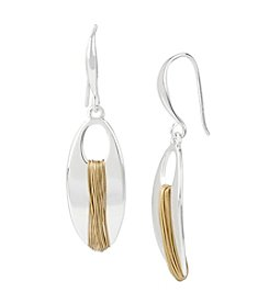 Robert Lee Morris Soho™ Two-Tone Wire Wrapped Oval Drop Earrings