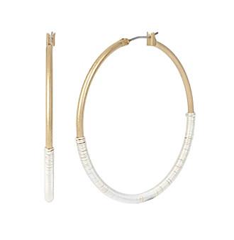 Robert Lee Morris Soho™ Two-Tone Wire Wrapped Hoop Earrings