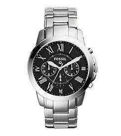 Fossil® Silvertone Grant Watch With Metal Bracelet