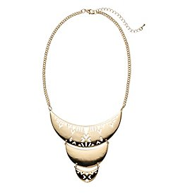 Natasha Goldtone Three Layer Necklace