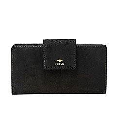 Fossil® Metallic Leather Tab Clutch