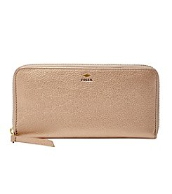 Fossil® Metallic Leather Zip Clutch
