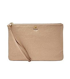 Fossil® Metallic Leather Wristlet