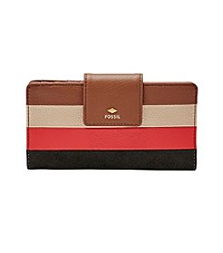 Fossil® Printed Leather Tab Clutch