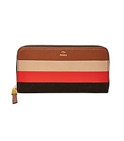 Fossil® Leather Patchwork Zip Clutch