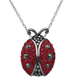Impressions® Sterling Silver Red And Black Ladybug Pendant