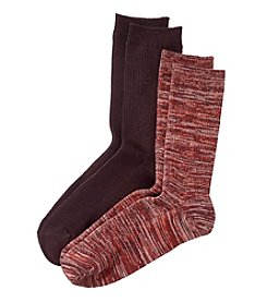 Relativity® 2-Pack Spacedye Soft Crew Socks
