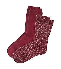 Relativity® 2-Pack Slub With Ruffle Socks