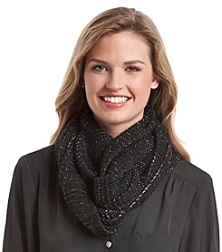 Steve Madden Metallic Purl Knit Infinity Scarf