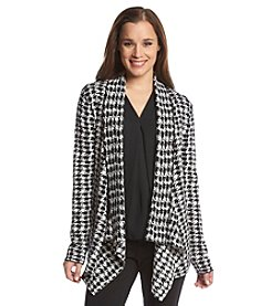 Kasper® Houndstooth Cozy Sweater