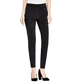 Vince Camuto® Ponte-Backed Suede Leggings