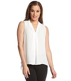 Vince Camuto® Sleeveless Blouse With Inverted Pleat