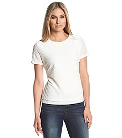 Calvin Klein Short Sleeve Textured Top