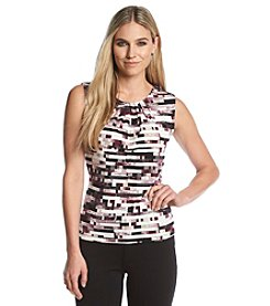 Calvin Klein Digital Print Pleatneck Cami
