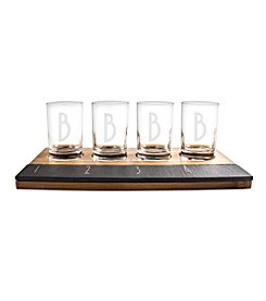 Cathy's Concepts Personalized 5-oz. Bamboo and Slate Craft Beer Tasting Flight