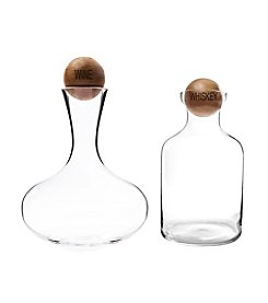 Cathy's Concepts Wine and Whiskey Decanter Set