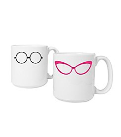 Cathy's Concepts Set of 2 20-oz. Geek Glasses Large Coffee Mugs