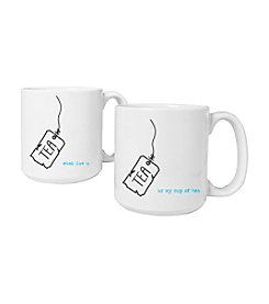 Cathy's Concepts Set of 2 20-oz. Tea Time Large Coffee Mugs