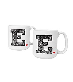 Cathy's Concepts Set of 2 Personalized 20-oz. Initial Large Coffee Mugs