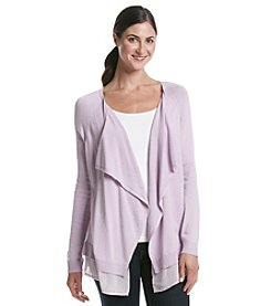 DKNYC® Chiffon Pieced Cardigan