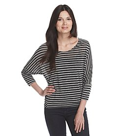 DKNY® Dolman Sleeve Stripe Top
