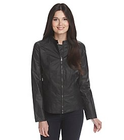 DKNY® Coated Moto Jacket