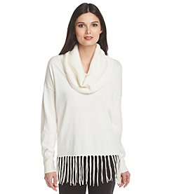 MICHAEL Michael Kors® Fringe Cowl Neck Sweater