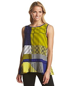 Joan Vass® Scoop Neck Keyhole Top