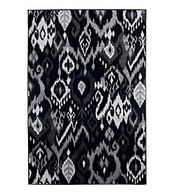 Lavish Home Ikat Black Accent Rug