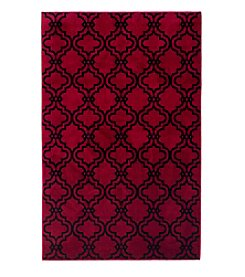 Lavish Home Double Lattice Accent Rug