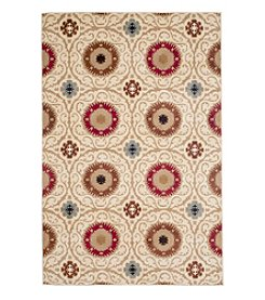 Lavish Home Royal Damask Haze Accent Rug